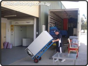moving house hold items into self storage units