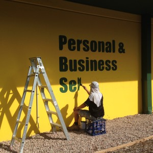 Hand Painted Sign Writing at Castle Hill