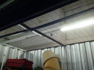 Mesh Roof in Storage Facility