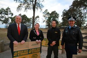 David Elliott, Mayor Byrne, Andrew Koorey, Supt Critchlow