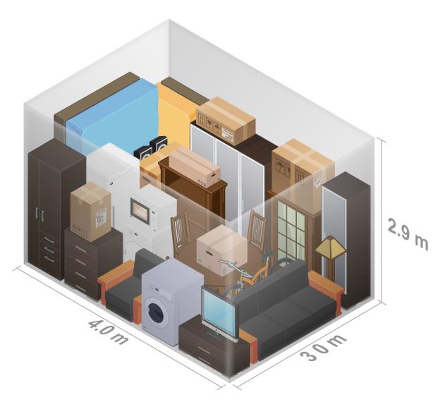 3 bedroom unit 4.0x3.0
