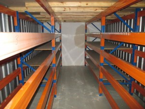 pallet racking installed with mezzanine floor system to maximise the use of storage unit space