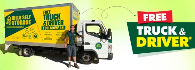 Free Truck Driver Service by Hills Self Storage