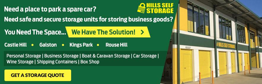 Hills Self Storage CTA Image
