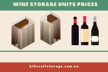 Wine storage prices